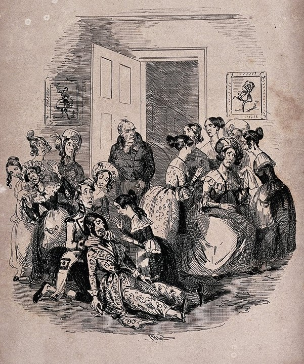 """""""Mr Mantalini poisons himself for the seventh time."""" from Charles Dickens' """"Nicholas Nickleby."""" Credit: Wellcome Library, London."""