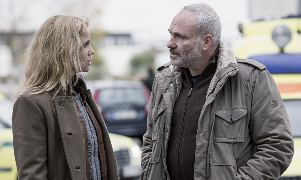 Saga and Martin in The Bridge.