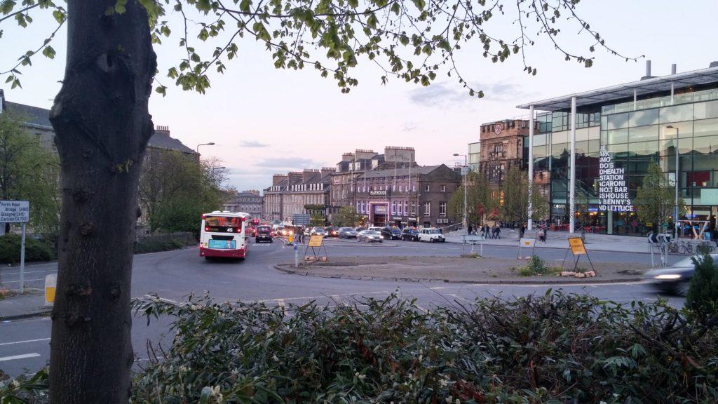 A roundabout in Edinburgh.