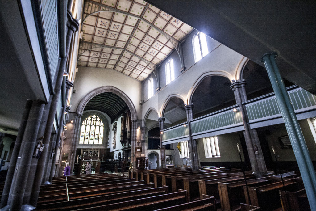 The interior of St Augustine's church