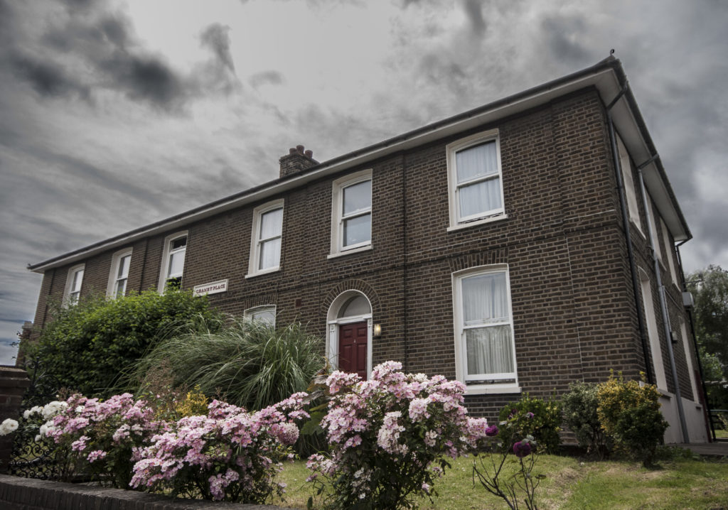 Granby Place, Northfleet, the home of Taylor's father.